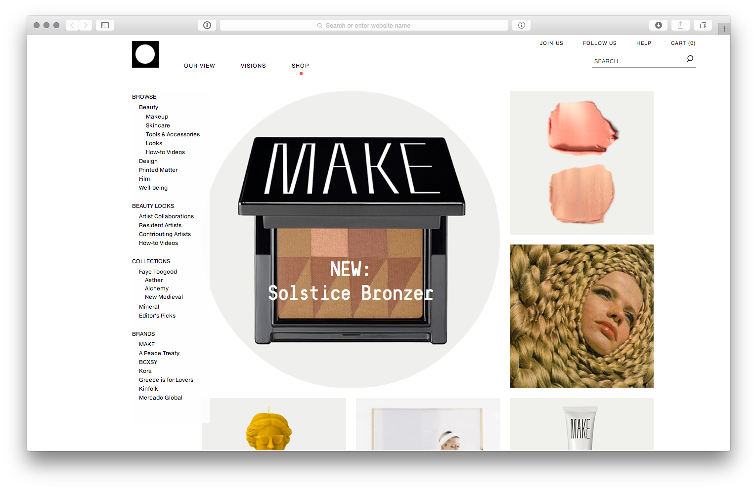 We See Beauty - website templates and digital direction, for We See Beauty with Ariana Mouyiaris